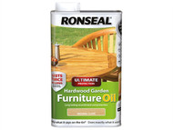 Ronseal RSLUHWGFOC1L - Ultimate Protection Hardwood Garden Furniture Oil Clear 1 Litre