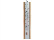 Faithfull FAITHBEECH - Thermometer Wall Beech Silver 200mm