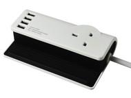 SMJ SMJSDESKT - Desktop Charging Station 1.4m 4 x USB 13A 240 Volt