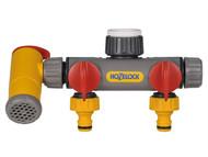 Hozelock HOZ2250 - Flowmax Two Way Connector 1/2 - 1in BSP