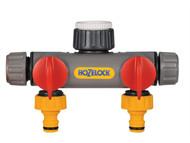 Hozelock HOZ2252 - Two Way Tap Connector 1/2 - 1in BSP