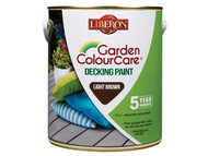 Liberon LIBDPLB25L - Decking Paint Light Brown 2.5 Litre