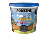Ronseal RSLFLPPCTBO5 - Fence Life Plus+ Tudor Black Oak 5 Litre
