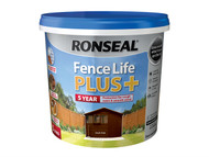 Ronseal RSLFLPPDO5L - Fence Life Plus+ Dark Oak 5 Litre