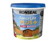 Ronseal RSLFLPPMO5L - Fence Life Plus+ Medium Oak 5 Litre