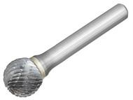 Dormer DOR807966 - Solid Carbide Bright Rotary Burr Ball 9.6mm x 6mm