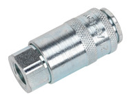 "Sealey AC13BP Coupling Body Female 1/4""BSP Pack of 50"