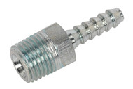 """Sealey AC38 Screwed Tailpiece Male 1/4""""BSPT - 3/16"""" Hose Pack of 5"""
