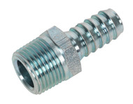 "Sealey AC41 Screwed Tailpiece Male 3/8""BSPT - 3/8"" Hose Pack of 5"