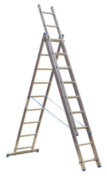 Sealey ACL3 Aluminium Extension Combination Ladder 3x9 EN 131