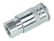 "Sealey ACP15 Coupling Body Female 1/4""BSP Pack of 5"