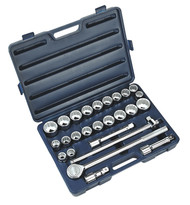 "Sealey AK2582 Socket Set 26pc 3/4""Sq Drive 12pt WallDriveå¬ - DuoMetricå¬"