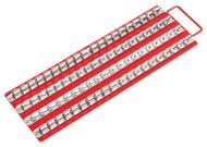 "Sealey AK271 Socket Rail Tray Red 1/4"", 3/8"" & 1/2""Sq Drive"