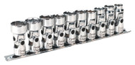 "Sealey AK2710 Universal Joint Socket Set 3/8""Sq Drive 6pt WallDriveå¬ 10pc Metric"