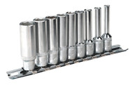 "Sealey AK2718 Socket Set 9pc 1/4""Sq Drive 6pt Deep WallDriveå¬ Imperial"