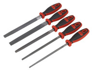 Sealey AK573 Engineer̥s File Set 5pc 200mm