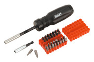 Sealey AK6498 Gearless Ratchet Screwdriver Set 34pc