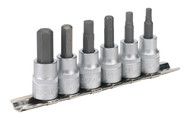 "Sealey AK656 Hex Key Socket Set 6pc 3/8""Sq Drive Metric"