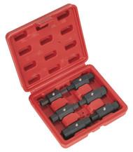 Sealey AK658 Oil Drain Plug Key Set 6pc Double End