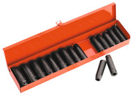 "Sealey AK685 Impact Socket Set 16pc Deep 1/2""Sq Drive Metric/Imperial"