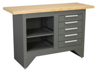 Sealey AP2030 Workbench with 5 Drawers Heavy-Duty