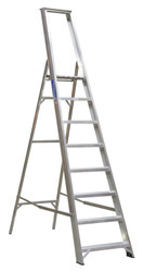 Sealey AXL8 Aluminium Step Ladder 8-Tread Industrial BS 2037/1