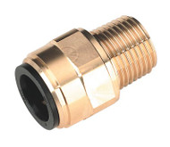 "Sealey CAS15BSA Straight Adaptor 15mm x 1/2""BSPT Brass"