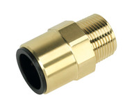 "Sealey CAS22BSA Straight Adaptor 22mm x 3/4""BSPT Brass"