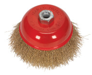 Sealey CBC125 Brassed Steel Cup Brush åø125mm M14 x 2mm