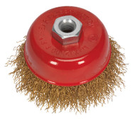 Sealey CBC75 Brassed Steel Cup Brush åø75mm M10 x 1.5mm