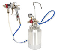 Sealey HVLP-79/P HVLP Pressure Pot System with Spray Gun & Hoses 1.7mm Set-Up