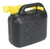 Sealey JC5B Fuel Can 5ltr - Black
