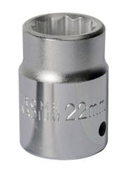 "Sealey S34/22 WallDriveå¬ Socket 22mm 3/4""Sq Drive"