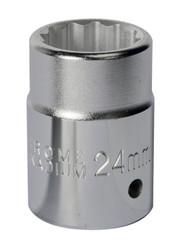 "Sealey S34/24 WallDriveå¬ Socket 24mm 3/4""Sq Drive"