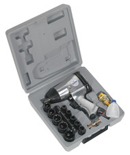 "Sealey SA2/TS Air Impact Wrench Kit with Sockets 1/2""Sq Drive"