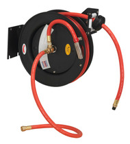 Sealey SA84 Retractable Air Hose Steel Reel 8mtr åø10mm ID Rubber Hose