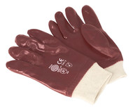 Sealey SSP31 PVC Chemical Handling Gloves Knitted Wrist Pair