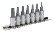 "Sealey SX106 TRX-TS Security Socket Bit Set 7pc 1/4""Sq Drive"