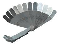 Siegen S0516 Feeler Gauge 12 Blade Offset - Dual Marked