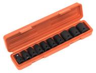 """Sealey AK2301 Impact TRX-Star Female Socket Set 10pc 1/2""""Sq Drive"""