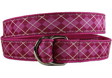 Wildberry Argyle Ladies Ribbon Belt