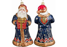 Fresco Santa Glass Christmas Ornament