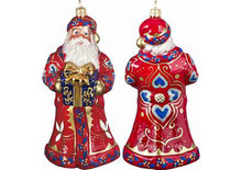 Czech Red Santa Glass Christmas Ornament