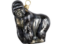 Gorilla Glass Christmas Ornament