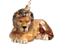 Lion Glass Christmas Ornament