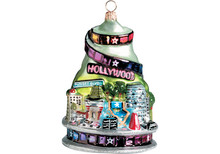 Hollywood Glass Christmas Ornament