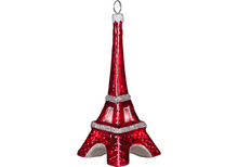 Eiffel Tower Christmas Ornament (Paint the Town Red)