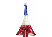 Eiffel Tower Christmas Ornament (French Flag Version)