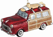 Woody Car Glass Christmas Ornament