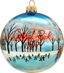 New York Central Park Round Ball Christmas Ornament